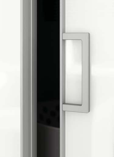 Door profiles with modern and contemporary design have become more ascetic and elegant therefore such opening is no longer possible. Glued and screwed door handles are used for such doors.