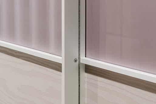 Sliding doors are intended for daily use. Doors must not be opened and closed quickly. Doors must not be used as support because that can lead to the door deformation.