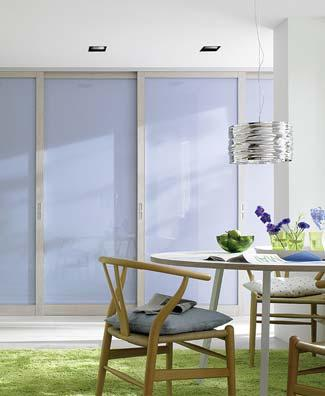 The specifics of the sliding doors and their dimensions allow them to be used for designing any enclosed space.